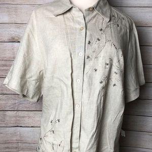 Sag Harbor Flax NWT Button Down Tunic Size 16W